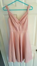 Monsoon Ballerina Pink Satin 50s Dress 6 XS BNWT RRP £99