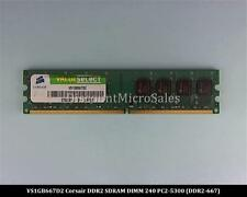 Corsair VS1GB667D2 DDR2 1GB PC2-5300 Non ECC 667Mhz RAM Memory
