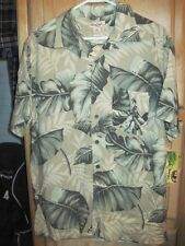 PANAMA JACK Hawaiian Shirt w/Floral Pattern Made in Bangladesh M 100% RAYON NWT