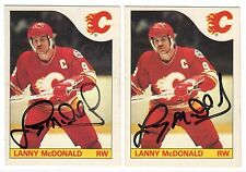 1X LANNY MCDONALD 1985 86 O Pee Chee #1 AUTOGRAPH Signed Signature Lots Availabl