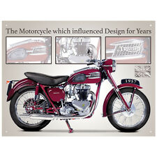 Triumph Speed Twin Motorcycle Tinplate Metal Plaque Wall Art Sign New