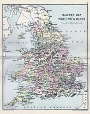 1889 RAILWAY MAP OF ENGLAND AND WALES