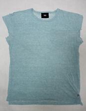 DOLCE & GABBANA Herren Shirt Gr. 52 Leinen D&G Sommer Türkis T-Shirt kurzarm !13