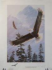 """""""EAGLES IN FLIGHT""""  title unknown by Jan Martin McGuire"""