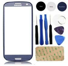 Blue Outer Screen Glass Lens Replacement for Samsung Galaxy i9300 S3 + Tools