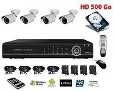 Kit vidéo surveillance IP 8 voies haute résolurtion  + 4 caméra ccd Sony 700TVL