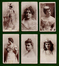 6/50 1901 AMERICAN TOBACCO CIGARETTE CARDS BEAUTIES TYPESET BACK SET 36 SEPIA