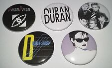 5 Duran Duran button Badges 80's new wave romance Rio Girls on Film The Reflex