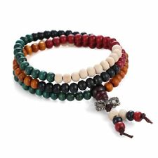 New Fashion Men Women Multilayer Wooden Beaded 3 Wrap Handmade Bangle Bracelet