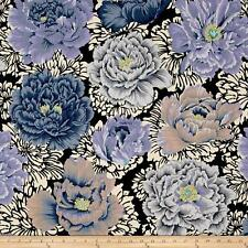 KAFFE FASSETT FLOWER Fabric Fat Quarter Cotton Brocade Peony Grey