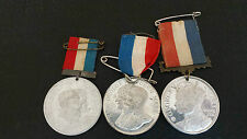 3 ALLOY CORONATION MEDALS George V (2) and Edward VII (1). Approx 38mm