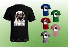Pug Life Shirt thug Pug Men T shirt Hilarious dog hip hop puppy Dog Pug Shirt