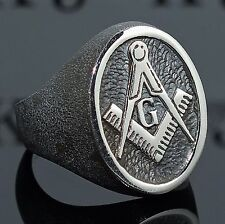 Masonic ring solid 925 Sterling Silver Men's Jewelry free resizing