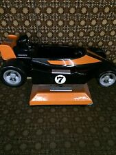 Vintage Arcade Black/Orange Race Car seat coin operated,  (Chucky Cheese)