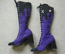 Super Rare Vintage Deadstock 1960s Terry De Havilland Purple Suede MOD Boots