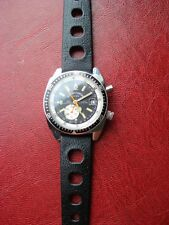 Rare Sicura Chronograph Men's Watch Swiss Made with Tropic strap