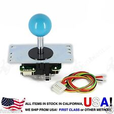Sanwa Original Japan Arcade Joystick JLF-TP-8YT with Blue Ball Top stick mod