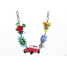 Collier Pop Art,coccinelle,cox,souris,fromage,chat,lol bijoux,car necklace,rose
