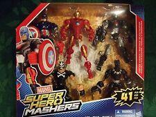 MARVEL Super Hero Mashers AVENGERS Set 5 Figure Pack CROSSBONES & BLACK PANTHER