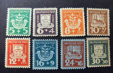 "GERMANY Germania LOKAL Post REICH 1946"" Lubbenau "" 8 Valori Cpl SET mint no gum"
