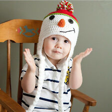 Cute Toddler Kids Girl&Boy Baby Winter Warm Crochet Knit Hat Snowman Beanie Cap