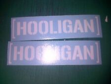 HOOLIGAN x2 Stickers Decals UK NOT Ken Hoonigan BLOCK Jap jdm rally