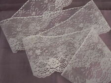 "6 YARDS,White Lace Trim,4"" wide,Lace For Invitations,Apparel,Lace Crafts,Sachets"