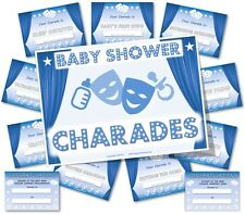 Baby Shower Party Games  /  BABY SHOWER CHARADES  /  Boy/Blue theme
