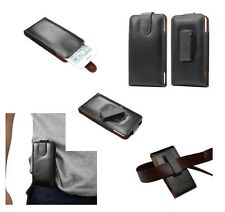 for HP ELITE X3 Genuine Leather Holster Case belt Clip 360° Rotary Magnetic