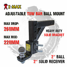 Adjustable Towbar Tow Bar Ball Mount Tongue Hitch Trailer 4WD Car Bike Rack Boat