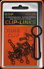 ESP CARP RING CLIP - CLIP LINKS - 20 PER PACK - FREE UK P & P