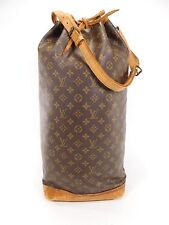 Louis Vuitton Noe Steamer Duffle Bag Tote Sac Leather Travel Carry Strap SC239