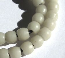 38 RARE STUNNING SMALL OLD WHITE VENETIAN ANTIQUE BEADS AFRICAN TRADE