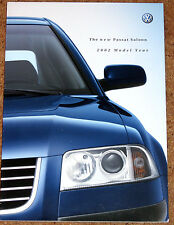 2002 New Model VW PASSAT SALOON Sales Brochure - V6 TDI 1.9 TDI 4MOTION V5 Turbo
