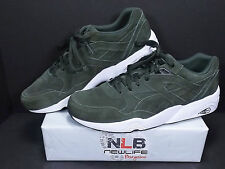 Vintage Puma R698 ALLOVER SUEDE Forest Night/White 359392-04 Men's Size 13
