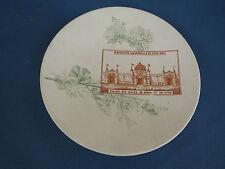"""ancienne Assiette Sarreguemines """" l'Exposition Universelle 1894"""" LYON 19eme"""
