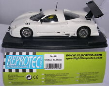 REPROTEC 501001 SLOT CAR NISSAN R390 GT1   RACING  WHITE   MB