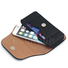 "Magnetic Flip Leather Card Case Cover Pouch Bag Belt-Clip Holster for 4.7""-5.5"""