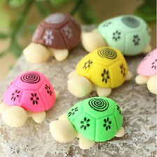 Cute Colorful Turtle Shape Cleansing Rubber Eraser Stationary Kid Gift Toy New