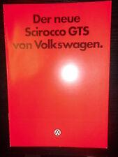 Prospekt Sales Brochure Scirocco GTS Ausstattungsdetails Auto Car VW Volkswagen