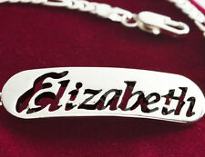 ELIZABETH Name Bracelet - Silver Plated Jewelry Personalized Gift For Her