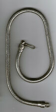 collana bagno argento indiano  133 gr INDIAN SILVER snake necklace 50CM X 7MM