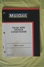 MacDon Model 4000 Mower Conditioner parts catalog manual 2003 Canada GUC