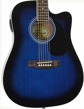 Jameson Demo Used Full Size Blue Acoustic Electric Guitar Thinline With Pickup