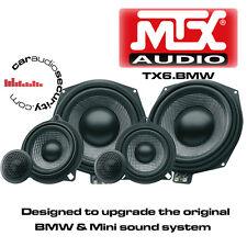 """MTX TX6.BMW 1 3 X1 X3 X5 Series 8"""" Underseat Subwoofers & Front Door Speaker Kit"""