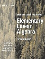 Solutions Manual to Elementary Linear Algebra by Howard Anton, 6th Edition