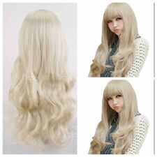 Womens Sexy Fashion Hair Long Curly Wigs Cosplay Party Wig Full Blonde Anime Wig