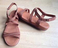 FITFLOP Woman Sandals Brown Leather 6.5uk/40Eur Brand New