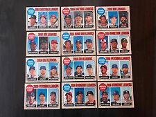 2017 Topps Heritage AL/NL League Leaders Complete Set of 12 FREE/FAST SHIPPING