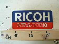 STICKER,DECAL RICOH KR5 AND KR10 CAMERA B